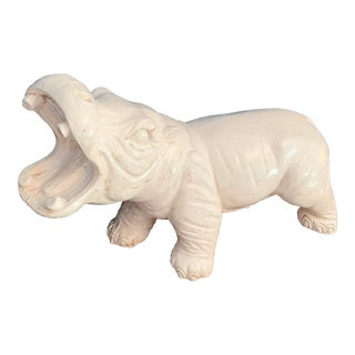Vintage Large Cast Plaster Mold for Hippo Bank For Sale
