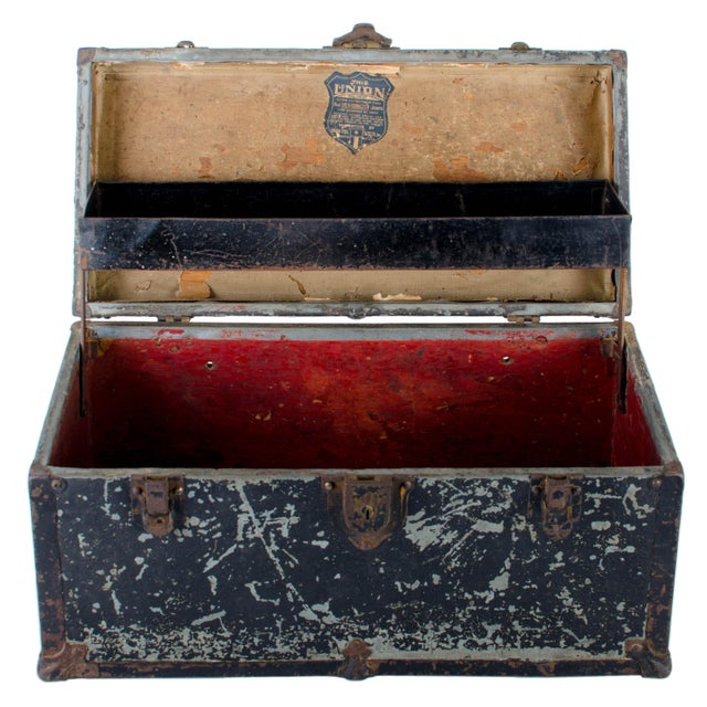Vintage Union Tool Box For Sale - Image 4 of 10