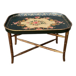 1950s Hand Painted Tray Table For Sale