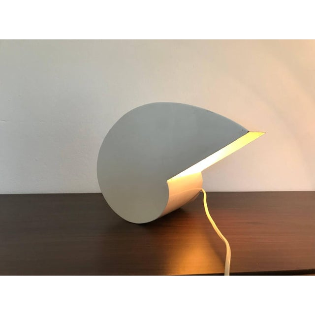 White Mid Century Modern Giuseppe Raimondi Snail Table Lamp For Sale - Image 8 of 10