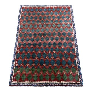 """Vintage Persian Gabbeh Rug-5'2'x7"""" For Sale"""