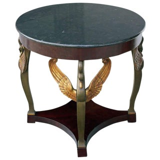 Early 19th Century Antique Gueridon Swan Head Center Table For Sale