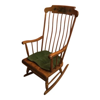 1950s Vintage Nichols & Stone Windsor Rocking Chair For Sale
