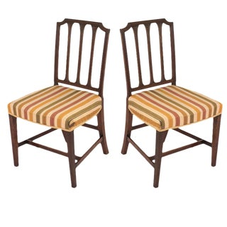 Mid 19th Century Mahogany Sheraton Chairs - a Pair For Sale