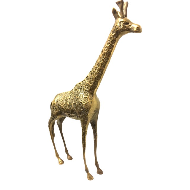 Vintage Mid-Century Brass Giraffe For Sale