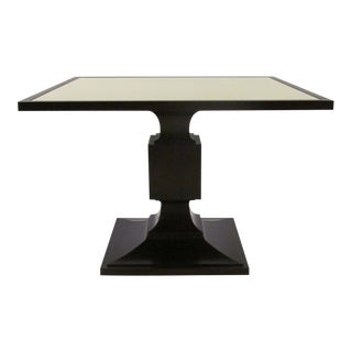 Thomas Pheasant for Baker Leather Top Dining Table For Sale