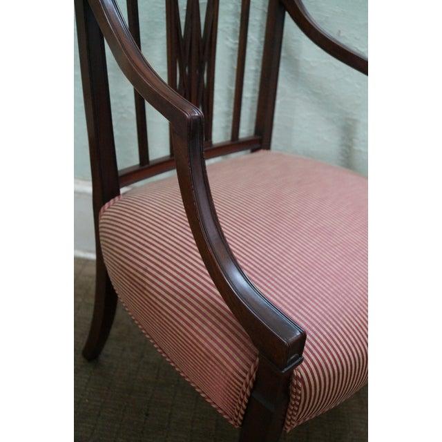 1940s Mahogany Hepplewhite Dining Chairs -Set of 6 - Image 9 of 10