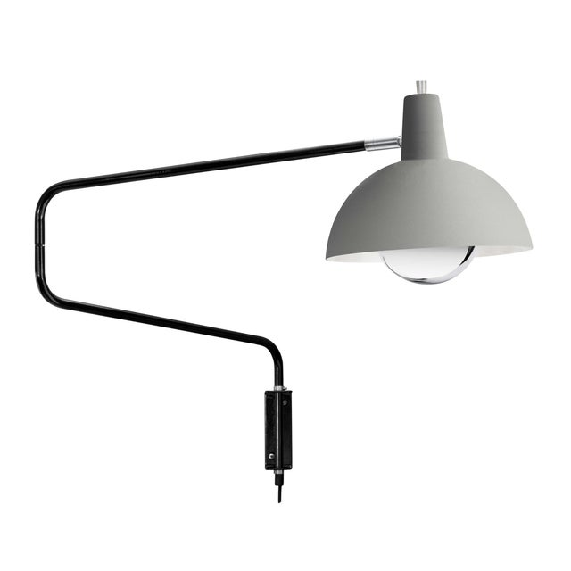 J.J.M. Hoogervorst Model 1702 'Paperclip' Wall Light for Anvia in Gray For Sale In Los Angeles - Image 6 of 6