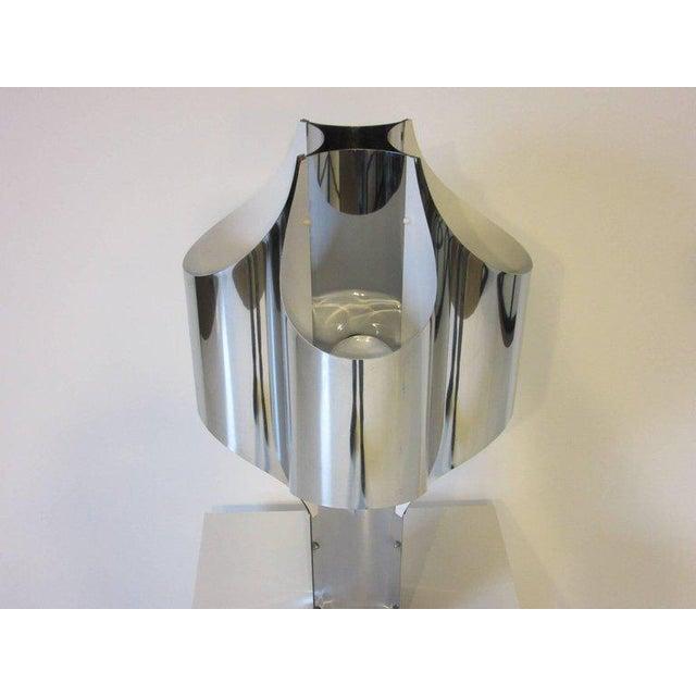 Metal Sonneman Sculptural Chromed Table Lamp For Sale - Image 7 of 8