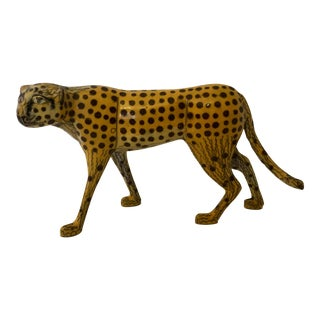 Vintage Cloisonne Cheetah For Sale