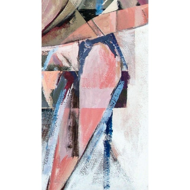 Seated nude in flesh, pink, navy, teal, white and black. Catalog No. 7170904 Stanley T. Harris was born in West Monroe, LA...