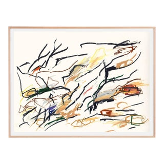 A Forest, Framed Colorful Abstract Print For Sale