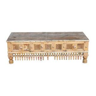 Rustic Tribal Coffee Table w/ 2 drawers