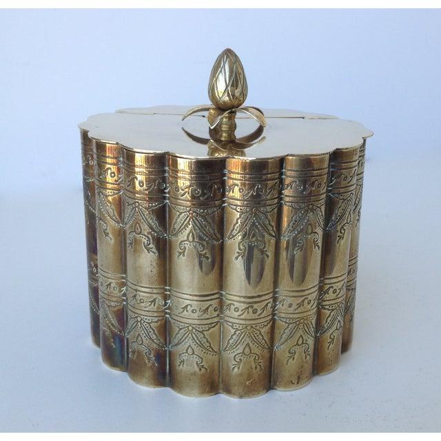 Brass English Moorish-Style Tea Container - Image 4 of 11