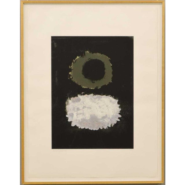 "1972 Vintage Adolph Gottlieb ""Black Field"" Serigraph Print For Sale - Image 13 of 13"