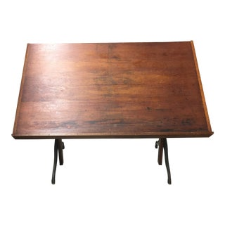 Antique Industrial Drafting Table For Sale