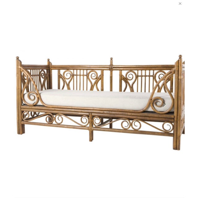 Shabby Chic 1980s Vintage Rattan/Bamboo Daybed by Ralph Lauren For Sale - Image 3 of 5