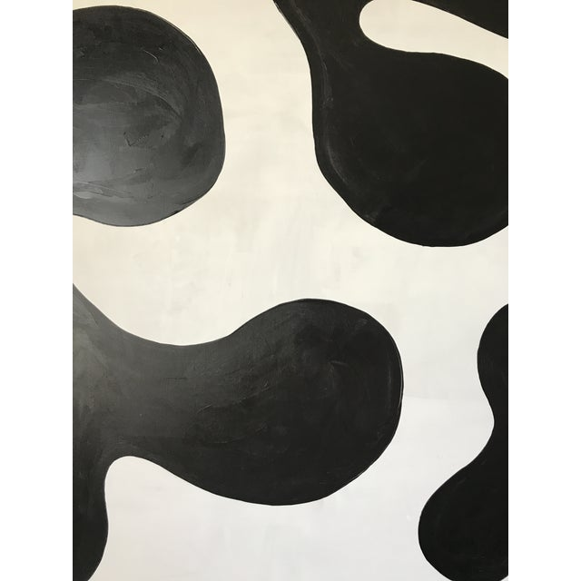 Modern Formation Monochrome Oversized Abstract Painting By Hannah Polskin For Sale - Image 4 of 11