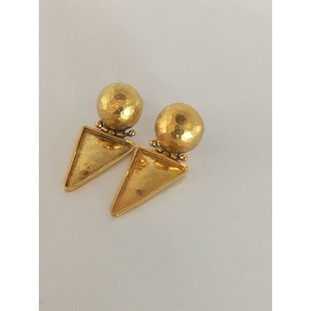 Italian 18k Gold Earrings For Sale - Image 9 of 10