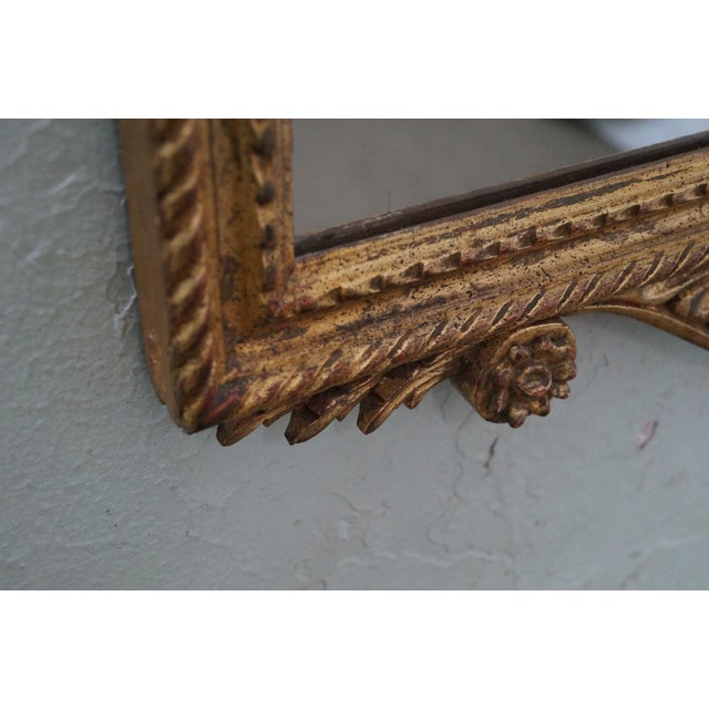 Vintage Italian Carved Louis XV Gilt Wood Mirror - Image 3 of 10