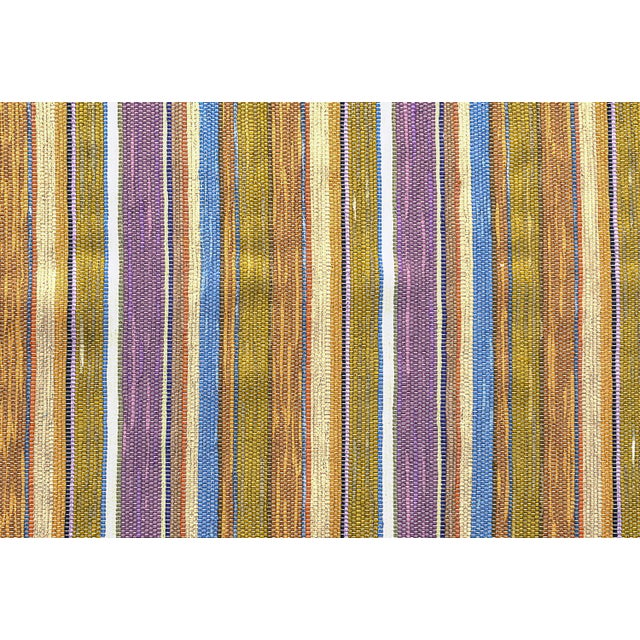 Swedish Handwoven Lilac & Green Rug - 4′3″ × 7′4″ - Image 7 of 7