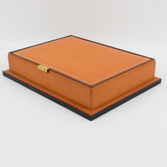 Longchamp Hand-Stitched Leather Box For Sale In Atlanta - Image 6 of 13