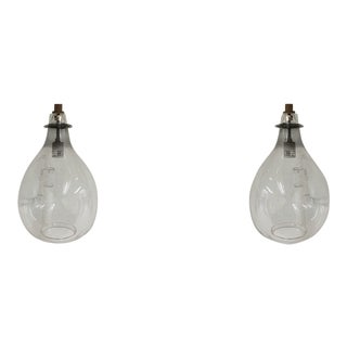Cisco Brothers Clear Glass Jar Lights - a Pair For Sale