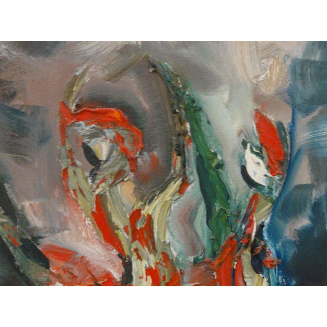 Mid Century Ballerina Abstract Painting - Image 4 of 10