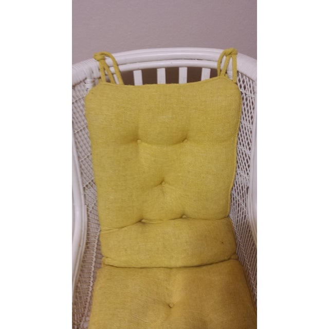 Vintage Swivel Egg Rattan Chair For Sale - Image 6 of 9