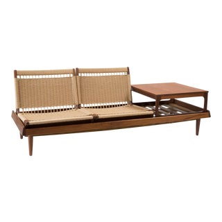 Hans Olsen Mid-Century Modern Teak Modular Seating Set For Sale