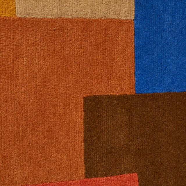 """""""Labrinthe"""" Wool Rug by Sonia Delaunay For Sale In San Francisco - Image 6 of 10"""