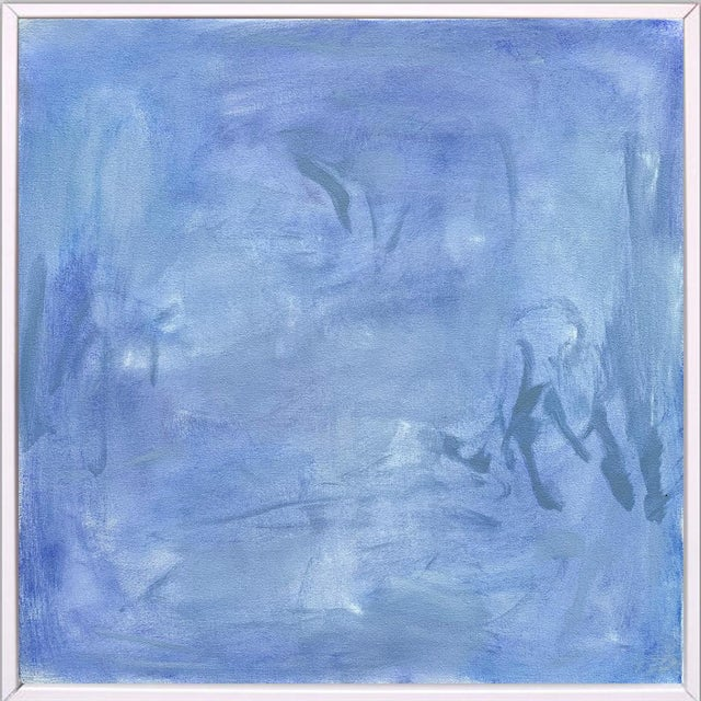 """""""Blue Zen"""" by Trixie Pitts Abstract Oil Painting For Sale - Image 11 of 13"""