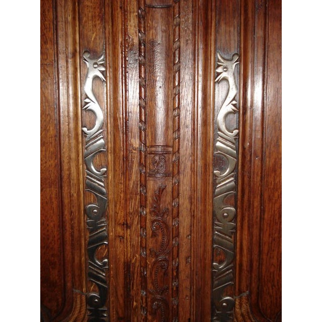 One of a Kind Beautiful Normandie Armoire For Sale - Image 9 of 11