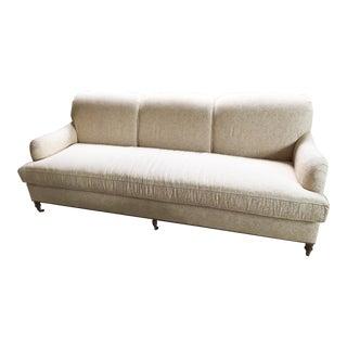 Traditional Kravet White Upholstered Walnut Sofa