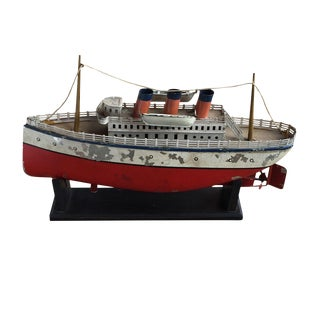 Vintage Steam Cruise Ship Model For Sale