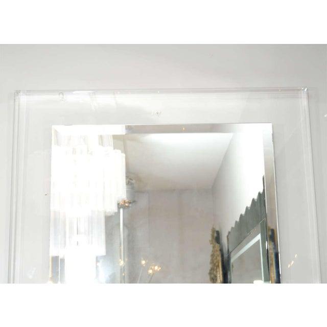 Modern Custom Lucite Framed Mirror For Sale - Image 3 of 5