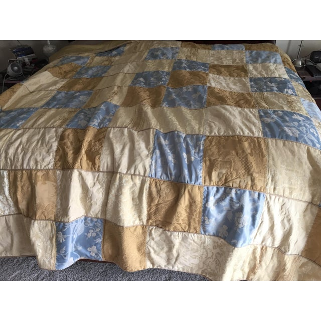 1990s Sherry Koppel Designs Handmade King Size Quilt or Wall Hanging For Sale - Image 5 of 12
