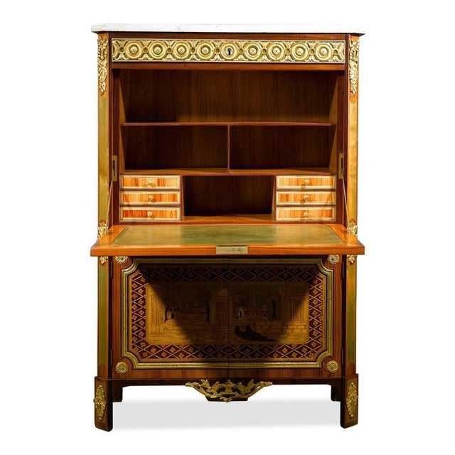 Mid 18th Century Ornate Secretary by André Gilbert For Sale - Image 5 of 10