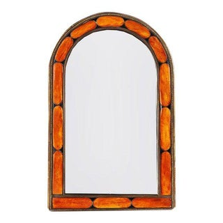 Camel Bone Framed Moroccan Wall Mirror Art Deco in Style For Sale