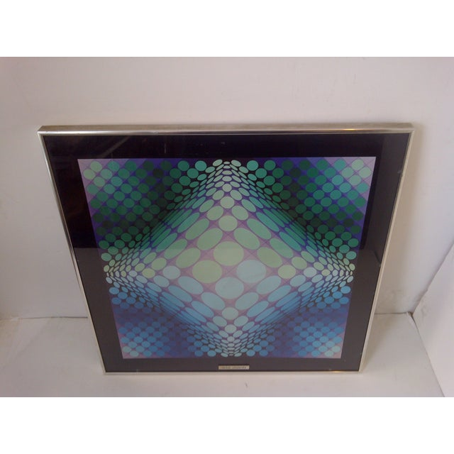 Modern Geometric Print by Victor Vasarely, 1960 For Sale - Image 7 of 8