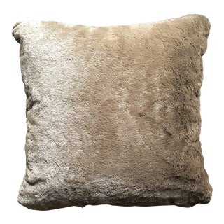 Restoration Hardware Chocolate Brown Pillow For Sale
