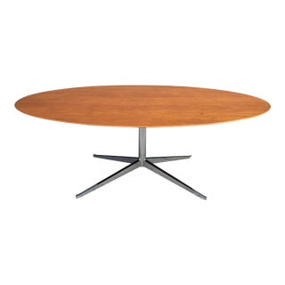 1960s Mid-Century Modern Florence Knoll Oval Table Desk For Sale