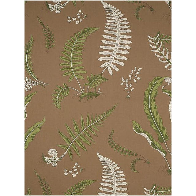 Traditional Scalamandre Elsie De Wolfe - Outdoor, Greens on Brown Fabric For Sale - Image 3 of 3