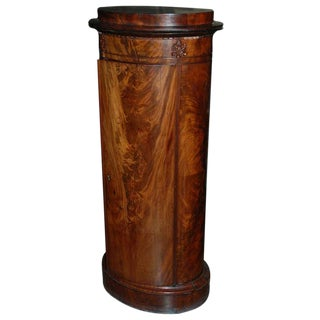 Mid 19th Century Danish Mahogany Pedestal Cabinet For Sale