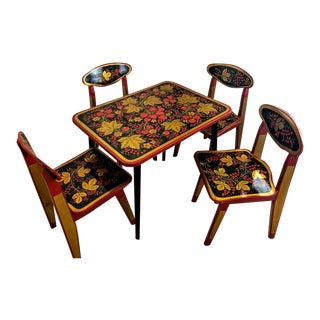 Russian Children's Table and Chair Set For Sale