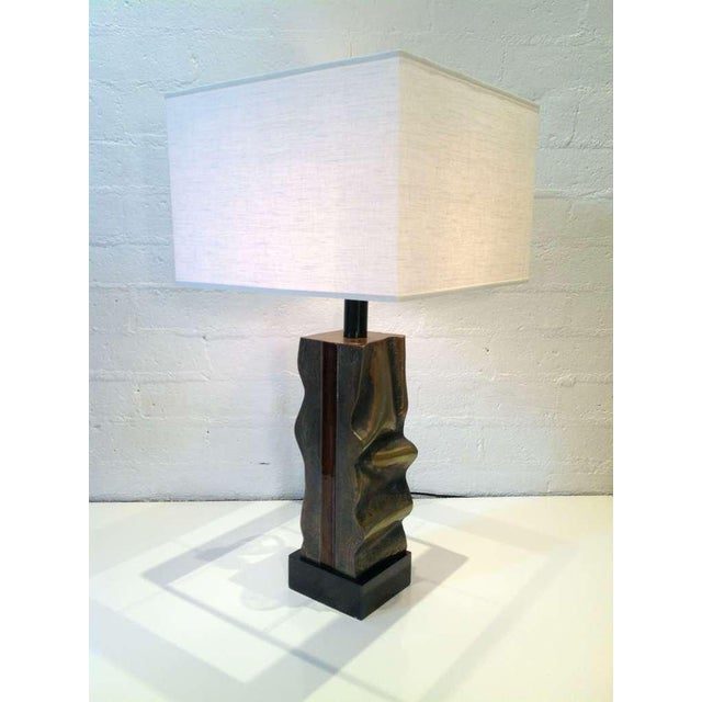 Signed Del Campo Sculptural Bronze Table Lamp For Sale - Image 10 of 10