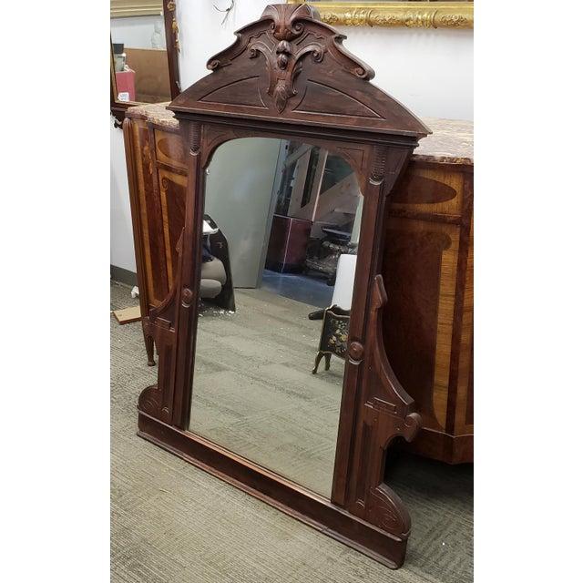 Antique Victorian Eastlake Style Rosewood Bedroom Dresser Mirror C1880 For Sale - Image 4 of 9