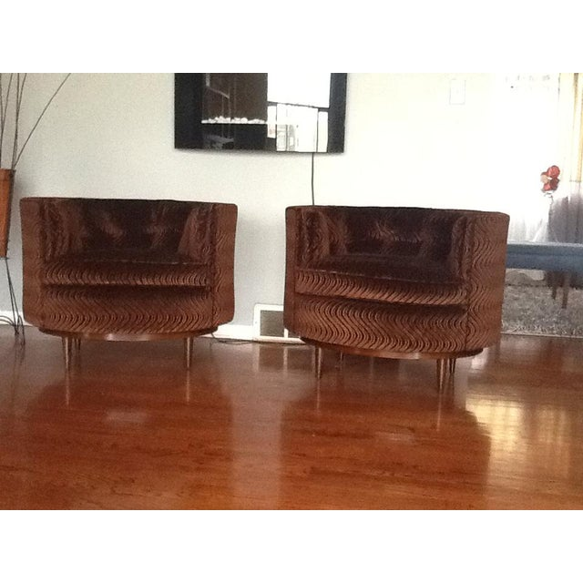Mid-Century Tufted Club Chairs - A Pair - Image 2 of 7