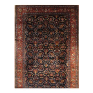 """Pasargad Persian Kashan Manchester Wool Rug - 10′6″ × 18′7"""" For Sale"""