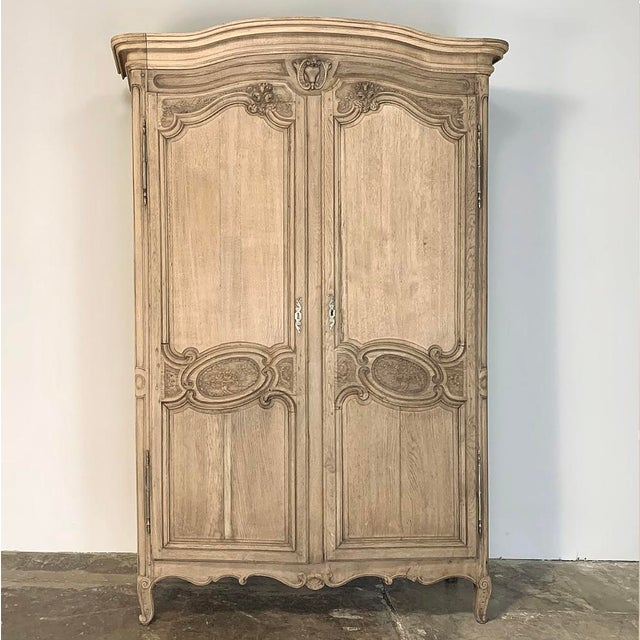 19th Century Country French Normandy Stripped Oak Armoire For Sale - Image 13 of 13